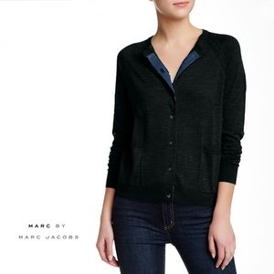 MARC BY MARC JACOBS Wool Blend Cardigan Small 0504